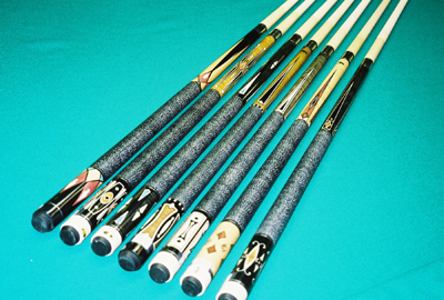 Fischer Pool Table Griffin Cues - Value Prices - Cue & Cushion