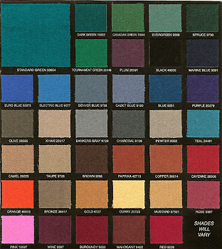 Available Cloth Colors